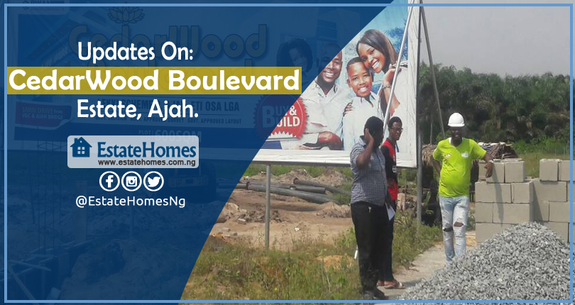 Update On CedarWood Boulevard Estate Ajah.